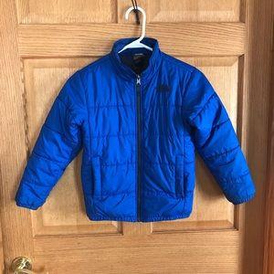 North face puffe rcoat  boys size 7/8 coat